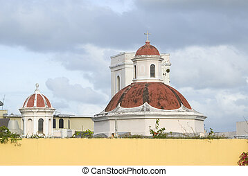 domes of san juan church - domes of the church of san juan...