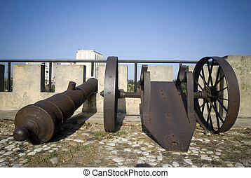 santo domingo dominican republic cannons on las damas -...