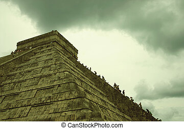 El Castillo, Chichen Itza - The pyramid of El Castillo (The...