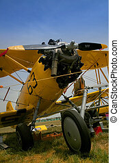 vintage airplane - A vintage airplane showing propeller and...