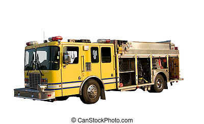 Pumper Truck Isolated - This is a fire department pumper...