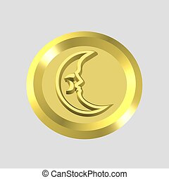 gold moon icon