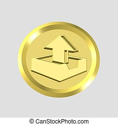 gold outbox icon