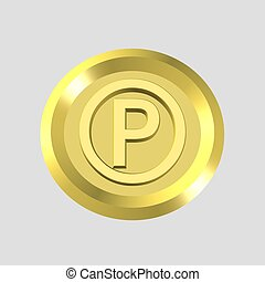 gold parking icon
