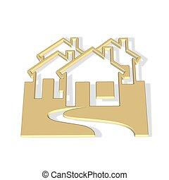 town icon symbol