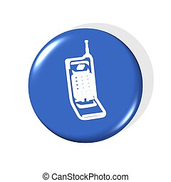 cellphone icon - computer generated illustration