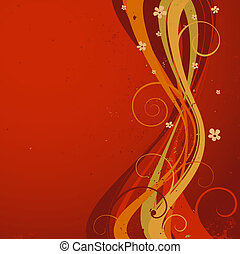 composition with flowers - abstract decorative composition...