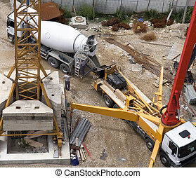 Machinery - Heavy machinery on building site