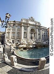 fountain of trevi rome italy - trevi fountain rome italy...