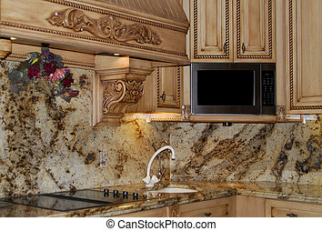 granite kitchen counters - beautiful granite stone in...