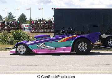 spiffy drag race car - taken at elliot lake drag races