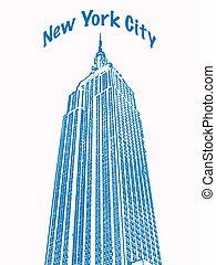 NYC - An illustration of the Empire State Building....
