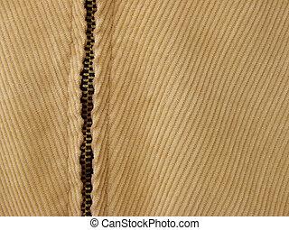 clothing fragment - velvet clothing fragment with zipper as...