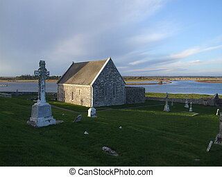 Burial ground ruins - ruins of historic church and very old...
