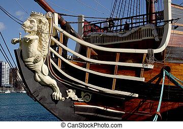 pirata, navio, 3