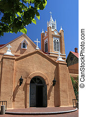 La Iglesia - Ancient church in Albuquerque, New Mexico,...