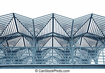 Steel structure - Cityscape abstract view of a Steel...