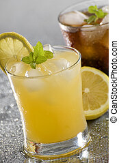 drink - cold fresh yellow drink close up shoot