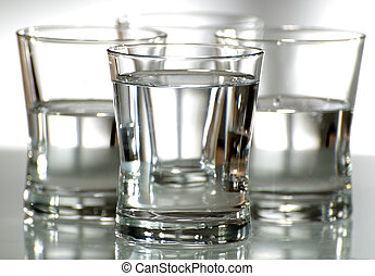 water - glass with fresh water close up shoot