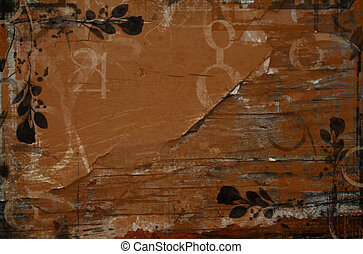 Wooden Texture Background - Wooden textured background with...
