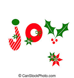 Joy - The word JOY spelled using Christmas icons