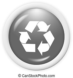 recycle icon - 3d recycle icon - computer generated clipart