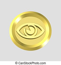 gold sight icon