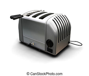 Contemporary toaster - 3D render of a contemporary toaster