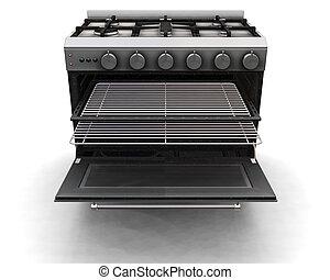 Modern oven - 3D render of a modern oven