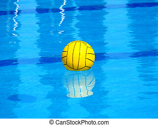 waterpolo - a ball in the swimming pool