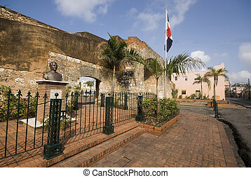 patriotic park with statue santo domingo - statue of ramon...