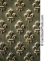 Fleur-de-lis Pattern On Door - Details from the doors to...