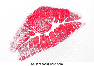 Lipstick Kiss on paper
