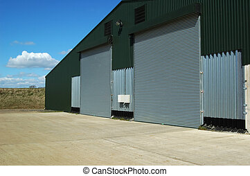 agricultural warehouse storage facilities and courtyard