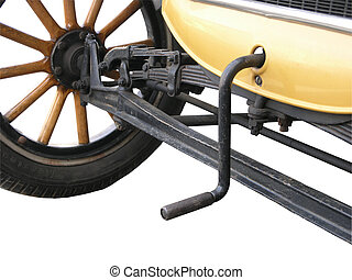 Original Starter Motor - The crank handle of a 1936 Austin...