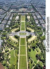 Parc du Champs 1 - View onto the Parc du Champs from the...