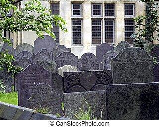 Old Graveyard - Rows of slate gravestones