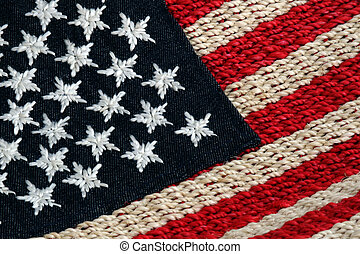 Stars and Stripes - Woven stars and stripes