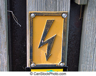 High voltage warning sign - High voltage electricity warning...