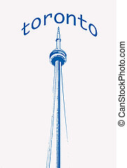Toronto - An illustration of the CN Tower.