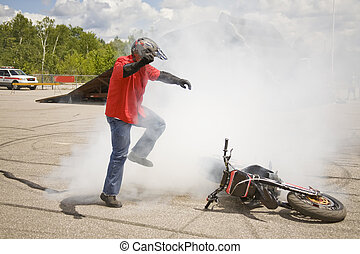 some accident - taken at elliot lake drag races