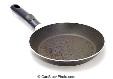 griddle - series object on white - kitchen utensil -frying...