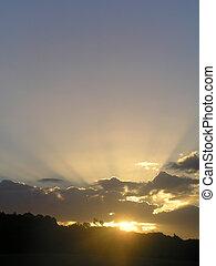 Beautiful sunburst - A beautiful sunburst through the clouds...