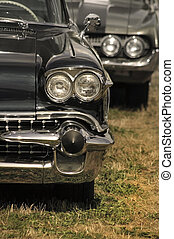 Classic Cars - Black agressive looking classic cars one...