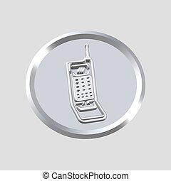 phone icon - 3d phone icon