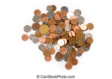 coins with white background