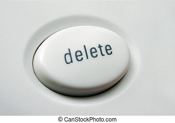 Delete - Macro shot of white delete button on keyboard