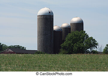 Grain Silos - an image of some Grain Silos