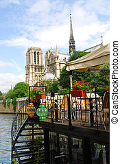 Restaurant on Seine - Restaurant on a boat on river Seine...