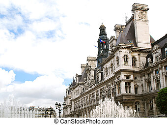 Hotel de Ville in Paris - Historical building of Hotel de...